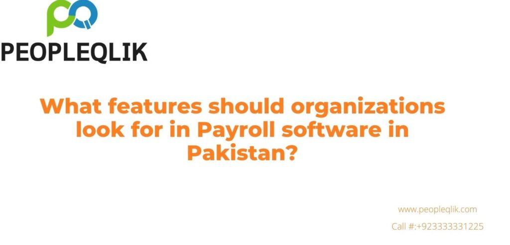 Payroll software in Pakistan